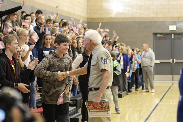 Veterans Day Assembly 2018 at HMS